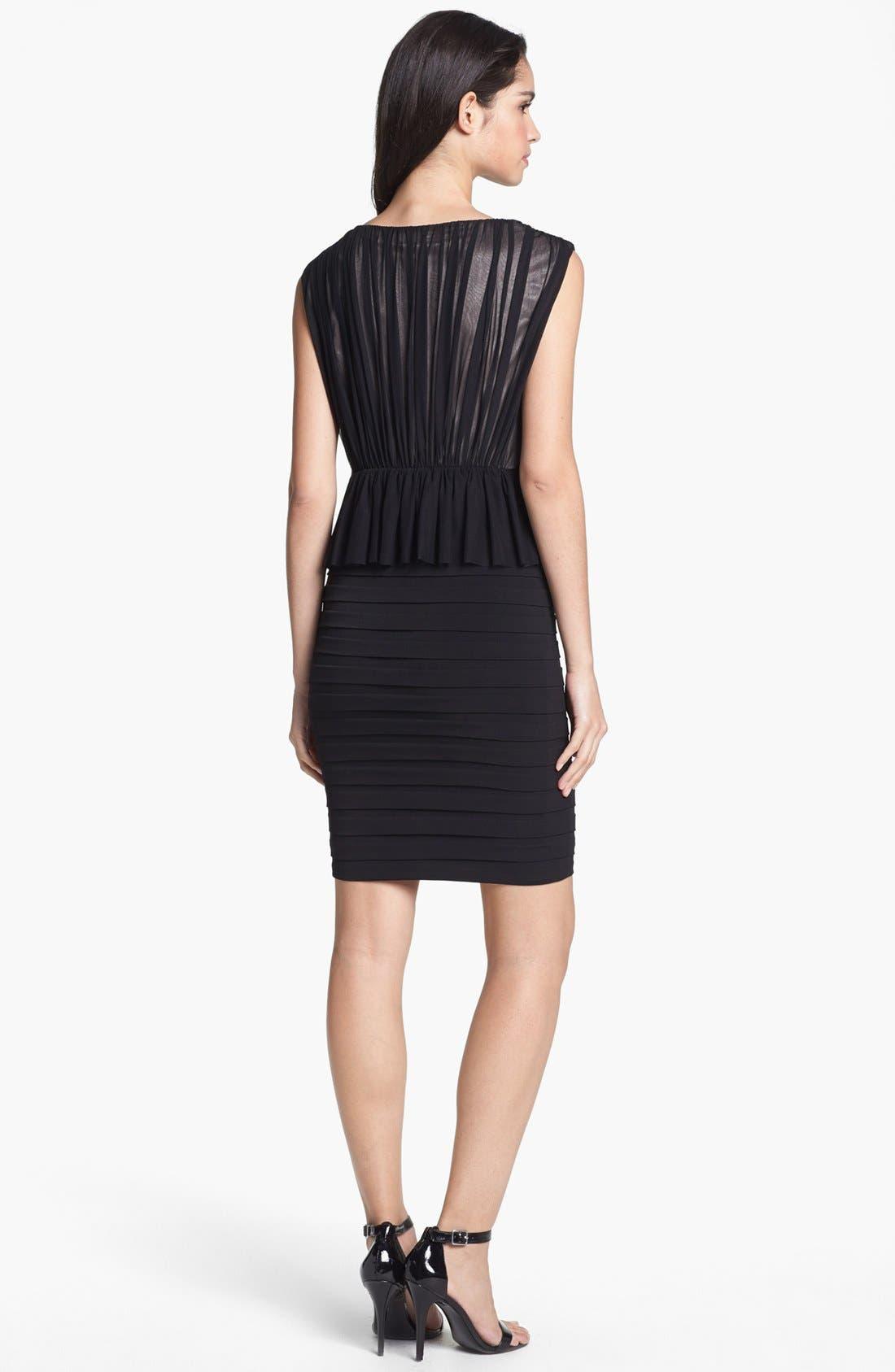 Alternate Image 2  - JAX Mixed Media Peplum Sheath Dress