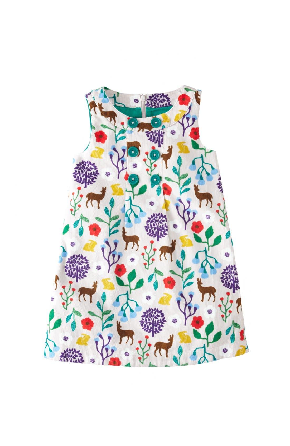 Alternate Image 1 Selected - Mini Boden Corduroy Pinafore Dress (Toddler Girls, Little Girls & Big Girls)