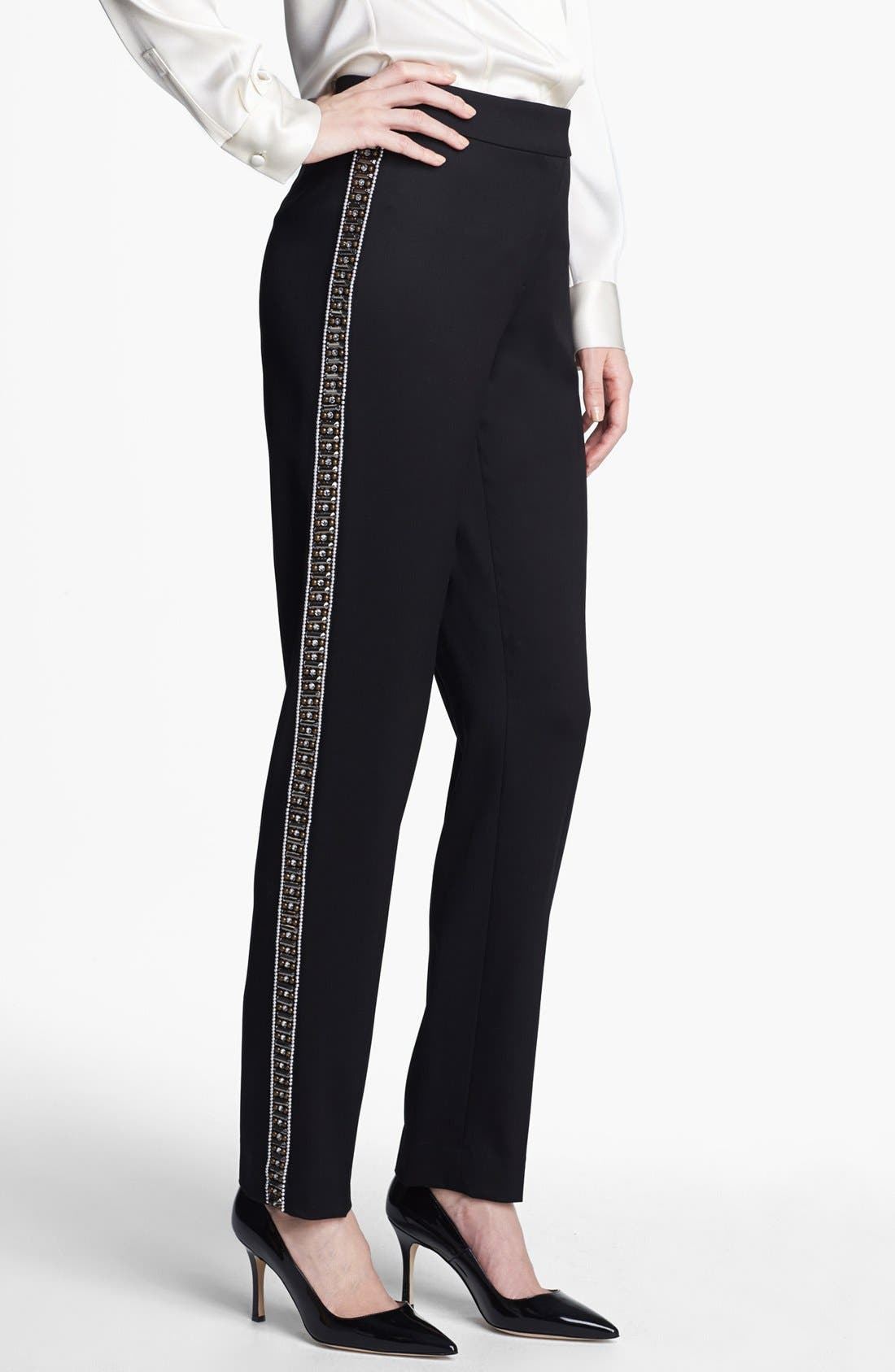 Alternate Image 1 Selected - St. John Collection 'Emma' Embellished Venetian Wool Pants