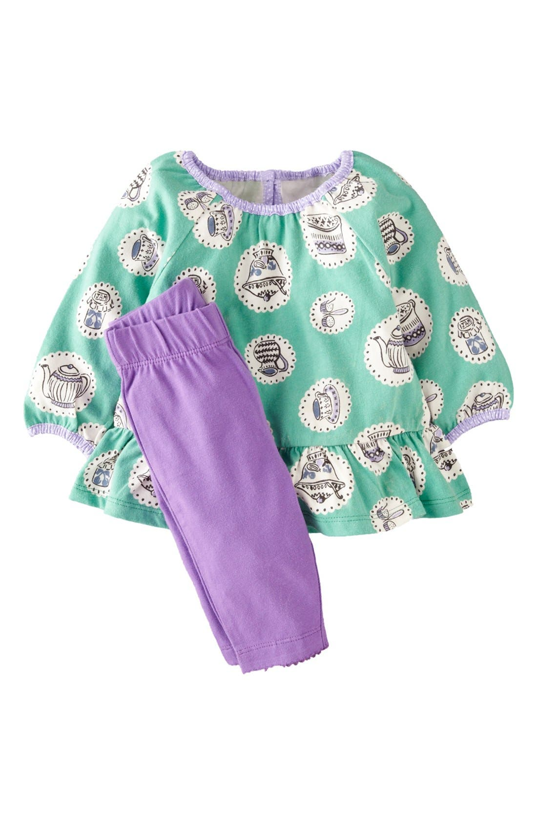 Alternate Image 1 Selected - Mini Boden Print Jersey Tunic & Leggings (Baby Girls)