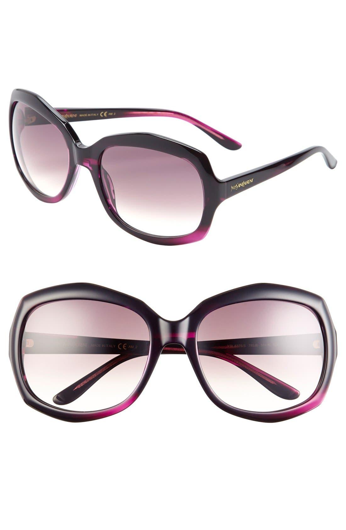Alternate Image 1 Selected - Saint Laurent 58mm Oversized Sunglasses