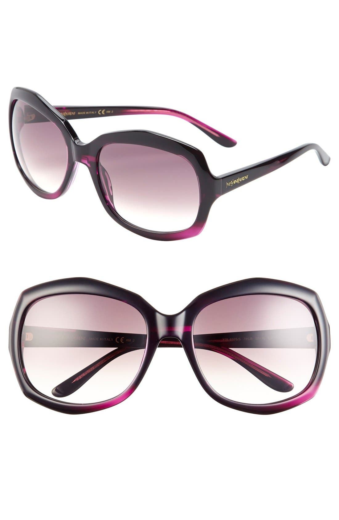 Main Image - Saint Laurent 58mm Oversized Sunglasses