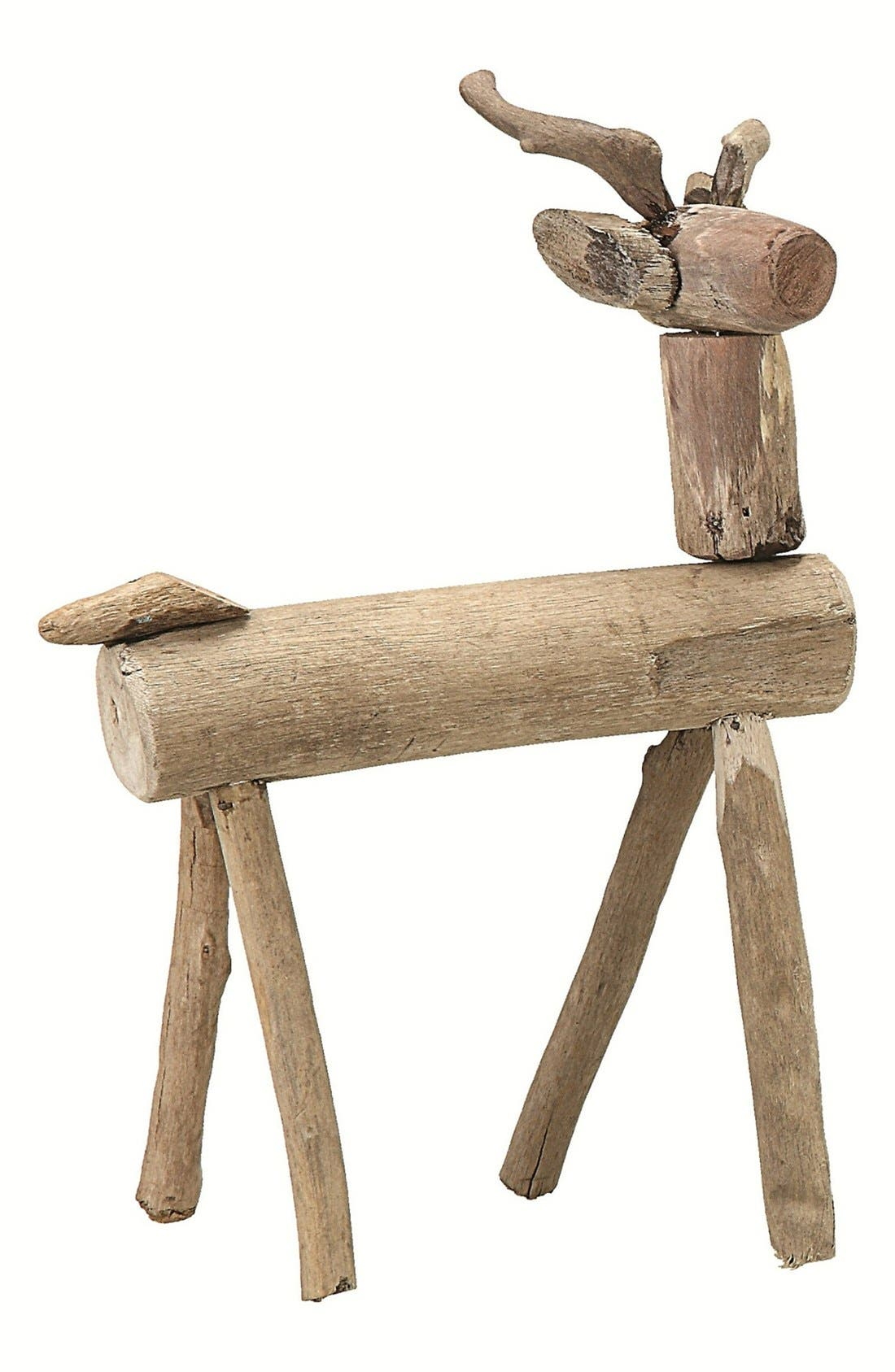 Main Image - Creative Co-Op Standing Driftwood Deer Decoration