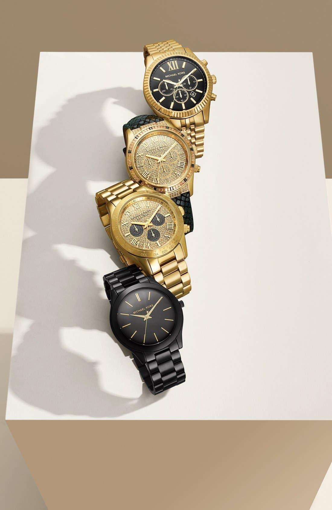 Alternate Image 4  - Michael Kors 'Layton' Pavé Dial Bracelet Watch, 44mm