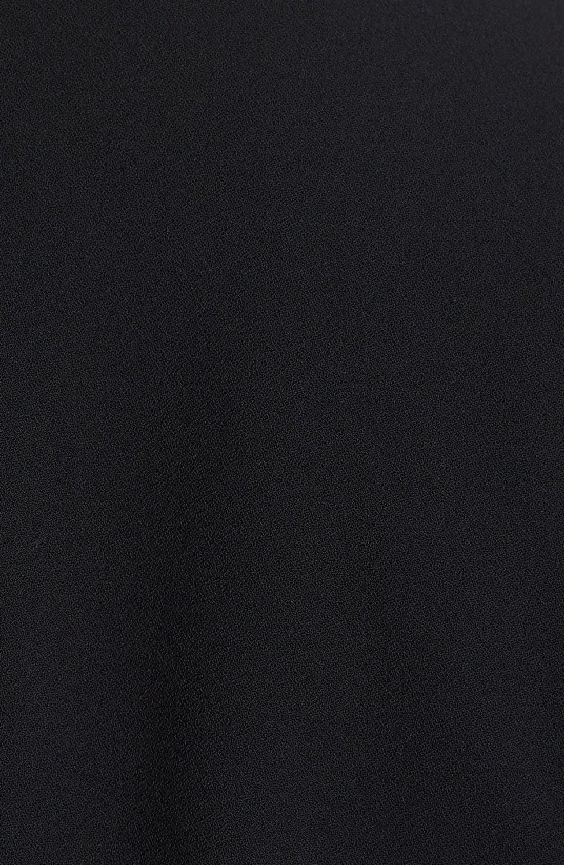 Alternate Image 3  - kensie Faux Leather Sleeve Drape Front Jacket