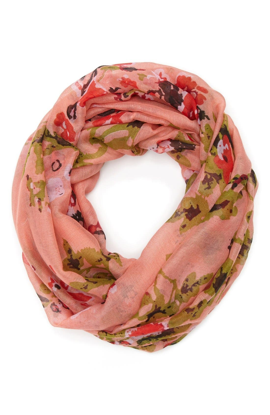 Main Image - David & Young 'Ditsy Cherry Blossom' Infinity Scarf (Juniors) (Online Only)