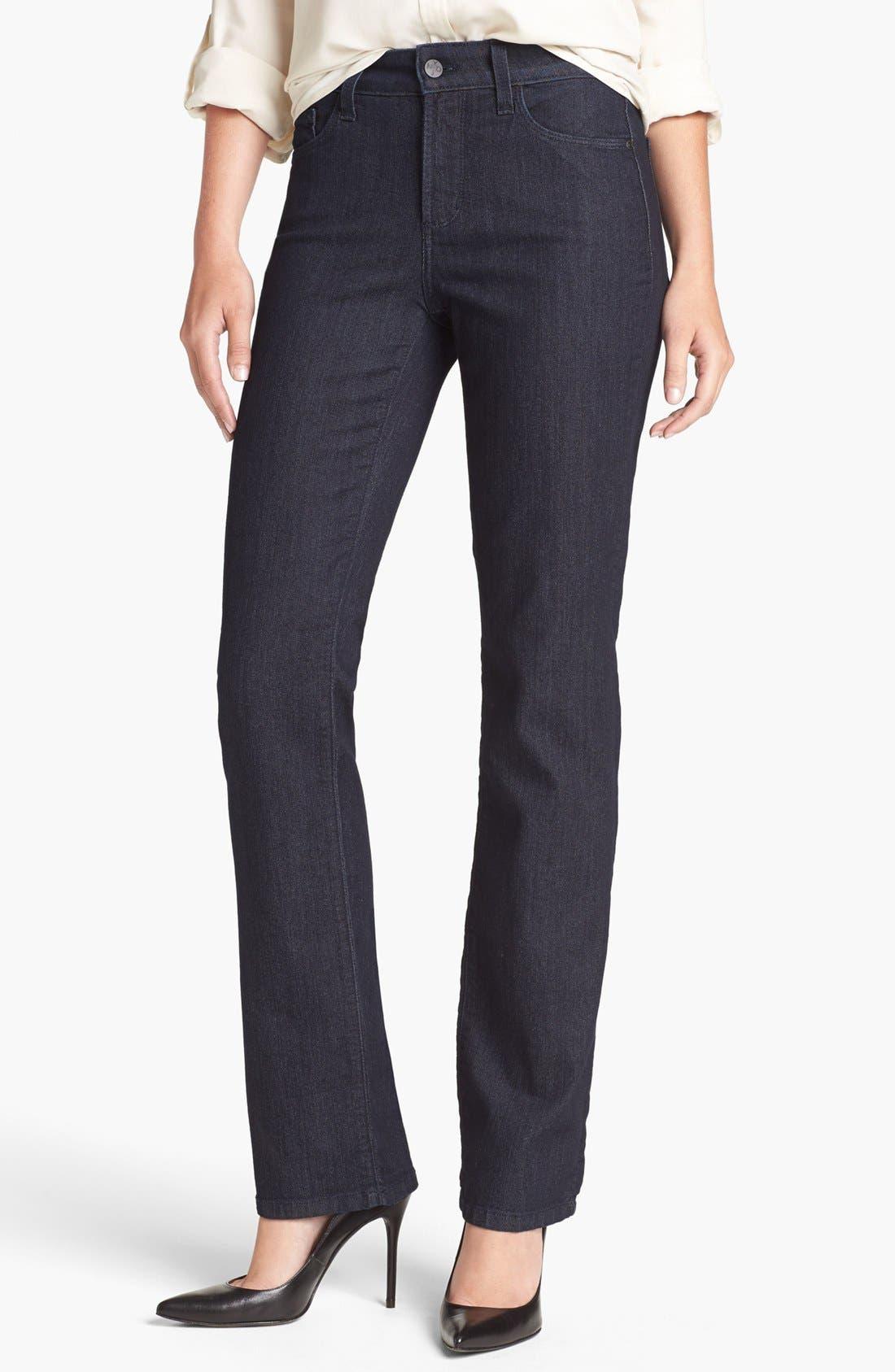 Alternate Image 1 Selected - NYDJ 'Marilyn' Embellished Pocket Straight Leg Jeans