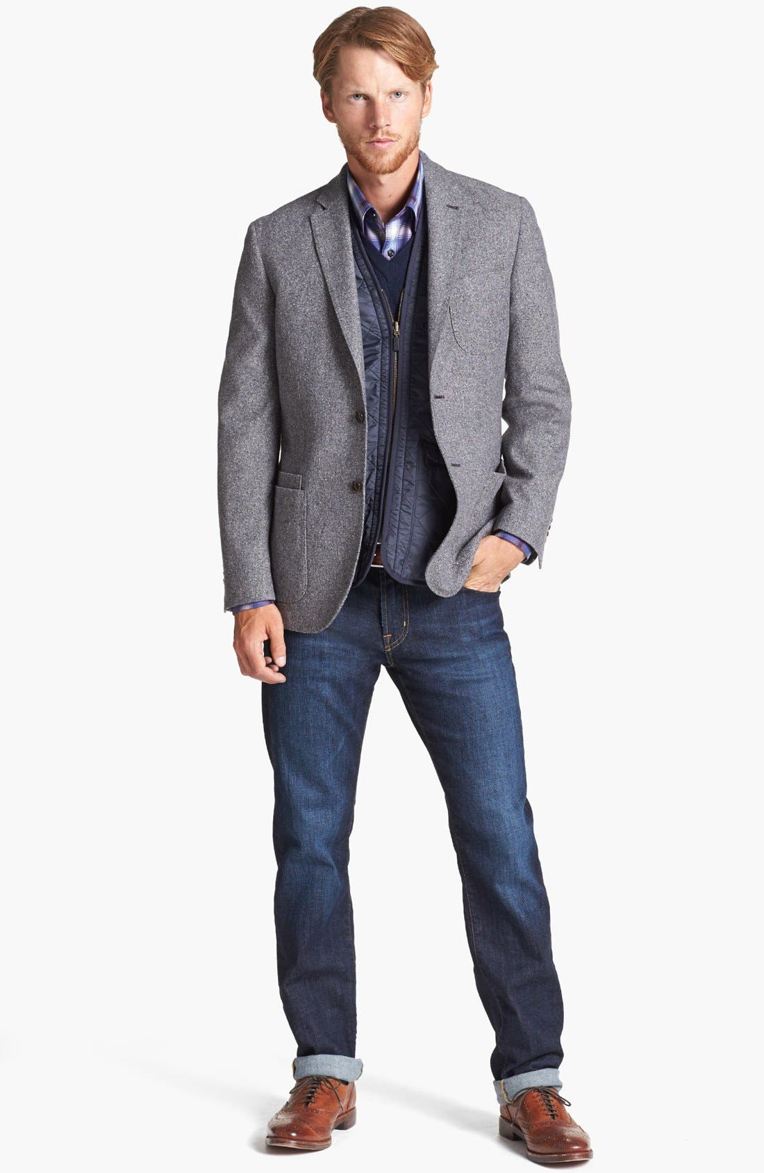 Alternate Image 8  - AG Graduate Slim Straight Leg Jeans (Robinson)