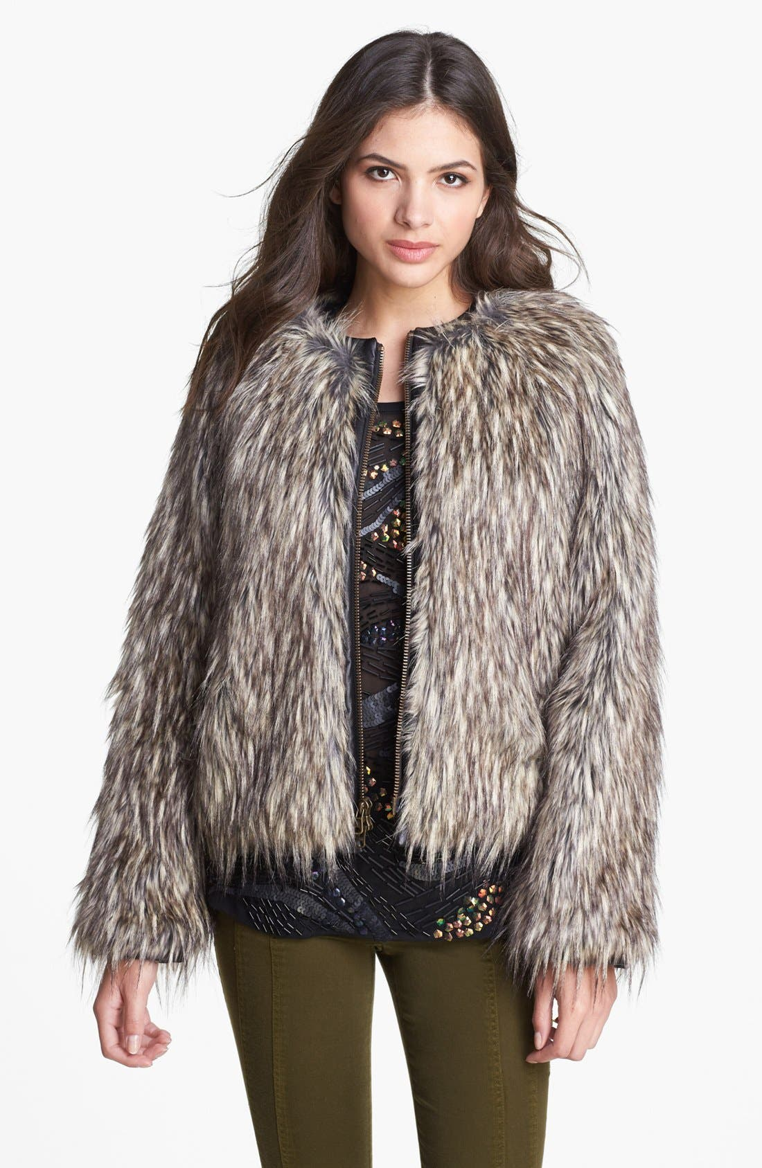 Alternate Image 1 Selected - Nanette Lepore 'Vagabond' Faux Fur Jacket