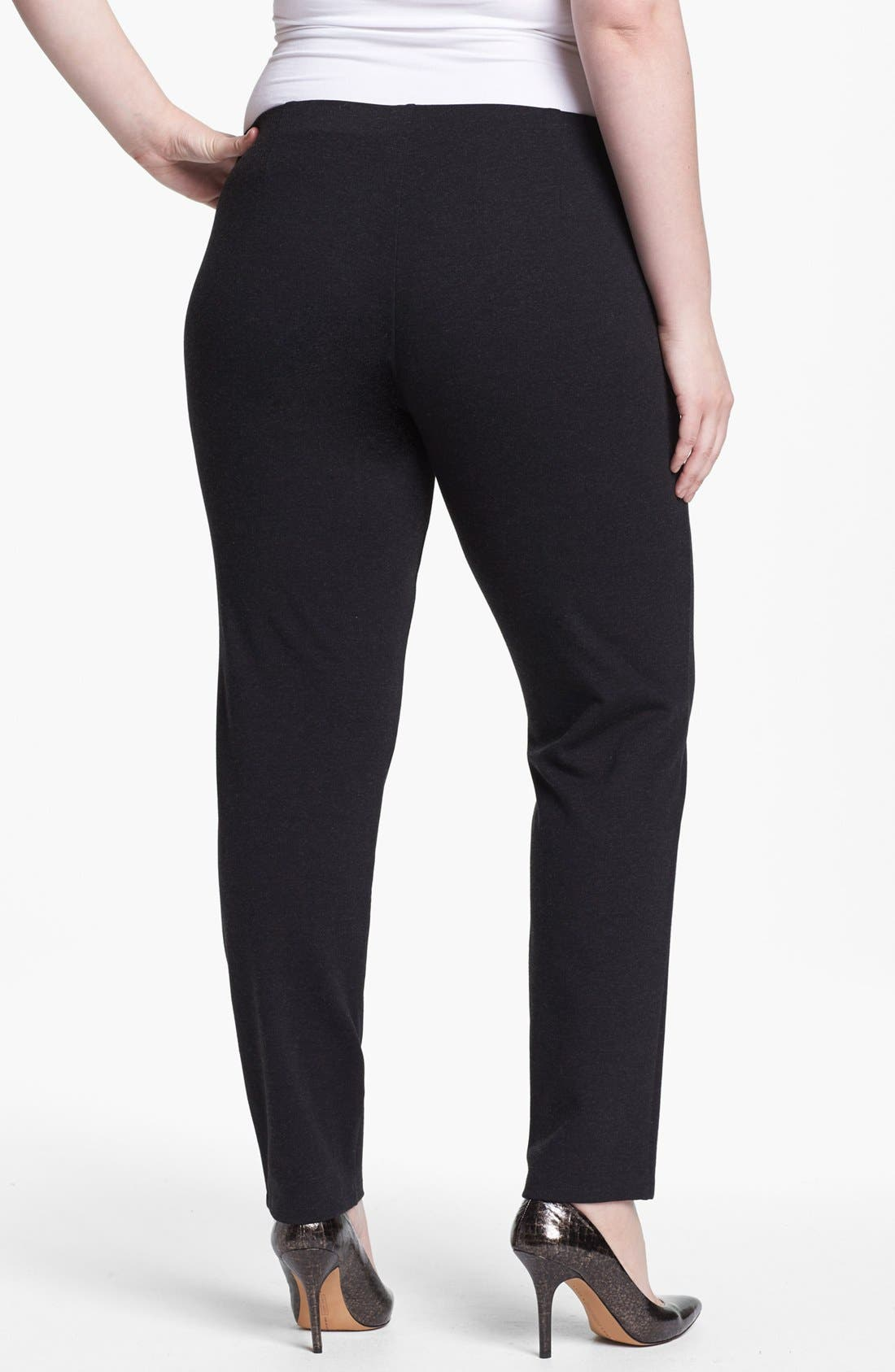 Alternate Image 2  - Eileen Fisher Slim Ankle Pants (Plus Size)