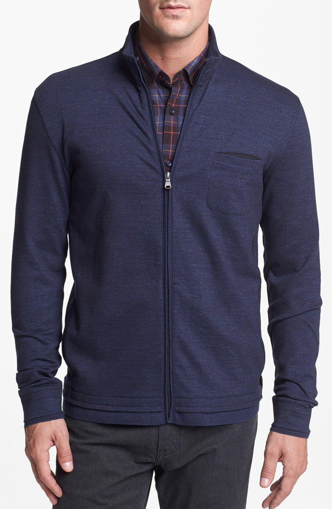 Alternate Image 1 Selected - BOSS HUGO BOSS 'Cannobio' Zip Front Sweatshirt