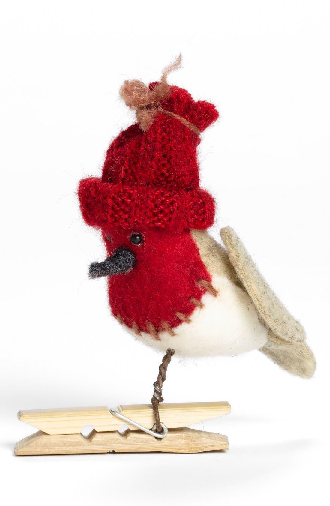 Alternate Image 1 Selected - Silver Tree Bird Clip Ornament