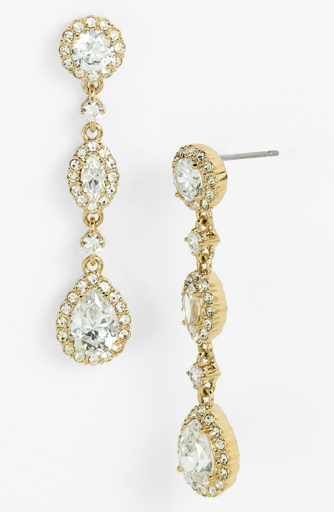 Alternate Image 1 Selected - Nadri Framed Cubic Zirconia & Crystal Drop Earrings