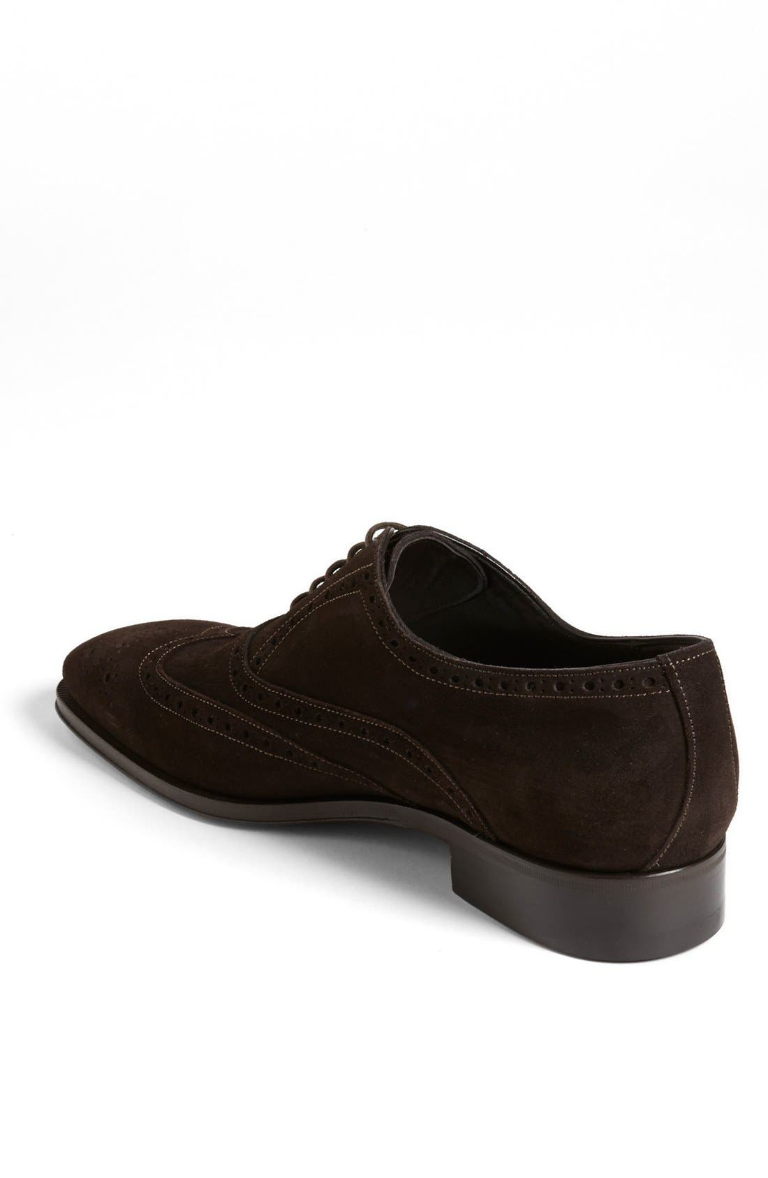 Alternate Image 2  - Canali Suede Wingtip (Men)