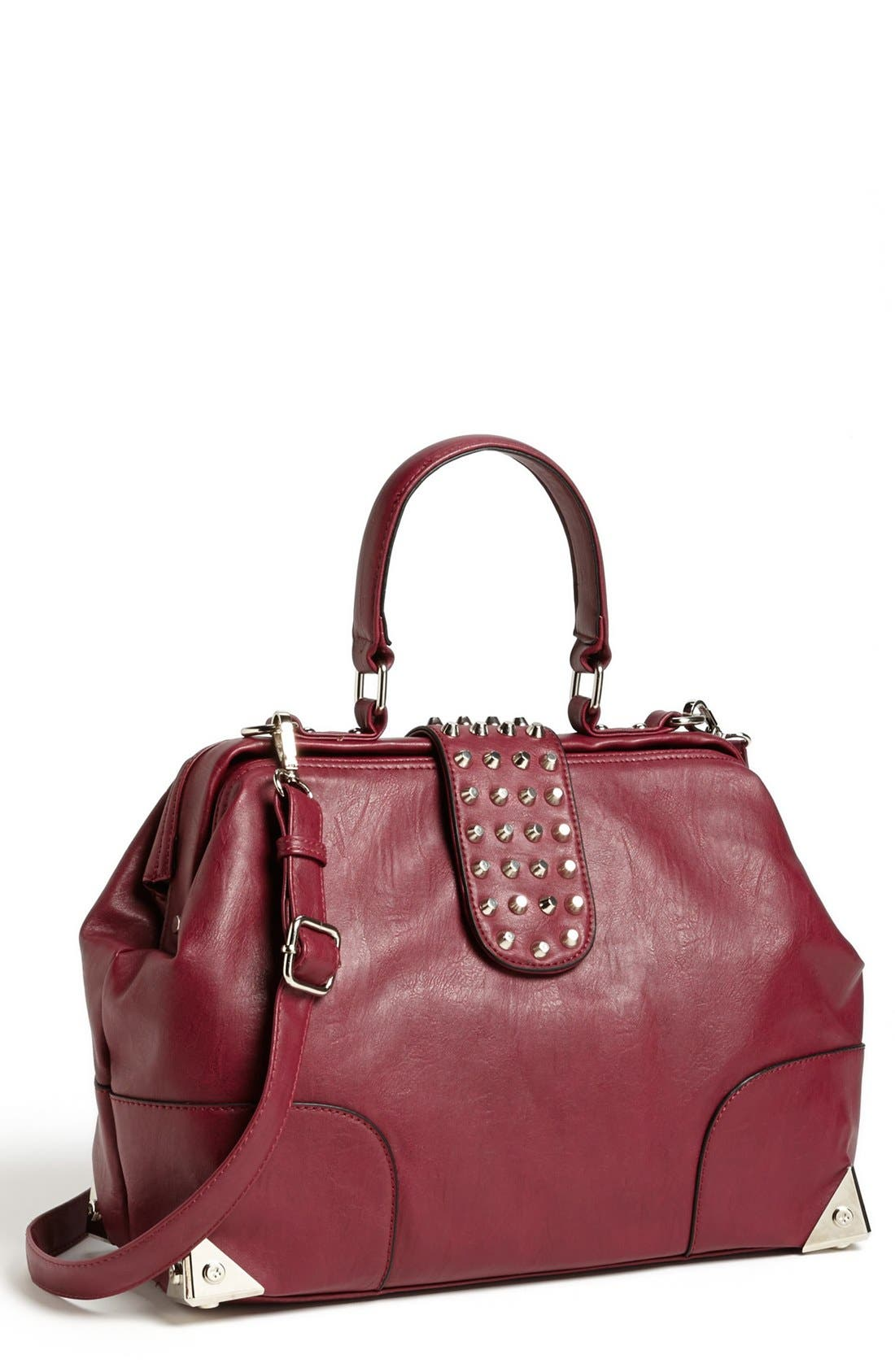 Main Image - Emperia Faux Leather Frame Satchel (Juniors) (Online Only)