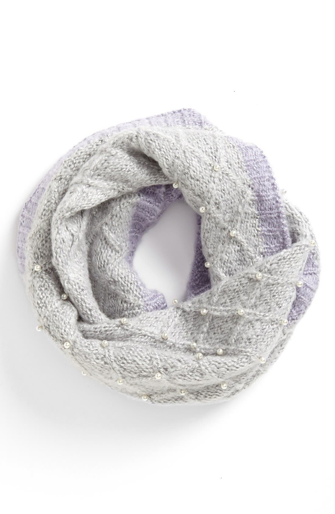 Alternate Image 1 Selected - Betsey Johnson 'Pearls of Wisdom' Infinity Scarf