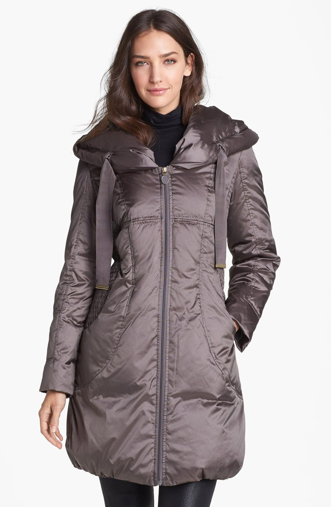 Alternate Image 1  - T Tahari 'Taryn' Pillow Hood Down Coat (Nordstrom Exclusive)