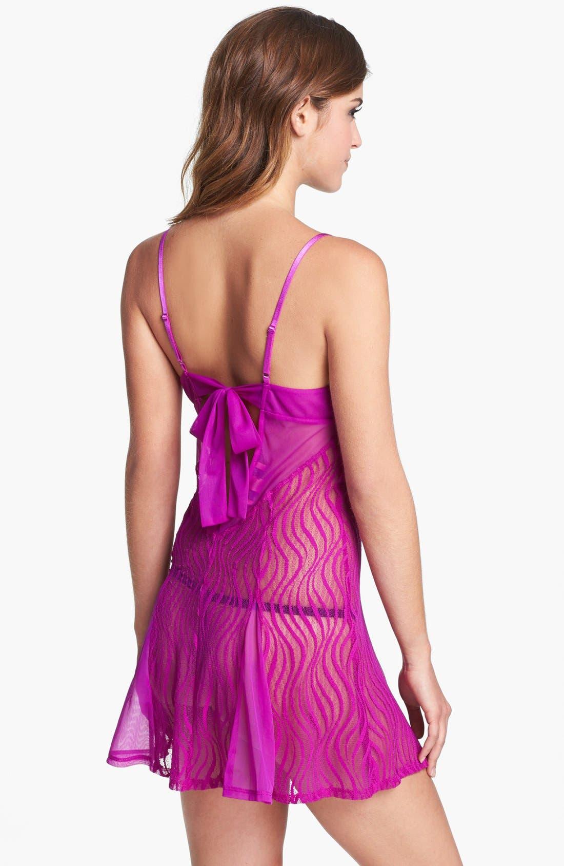 Alternate Image 2  - Betsey Johnson Sheer Lace Slip