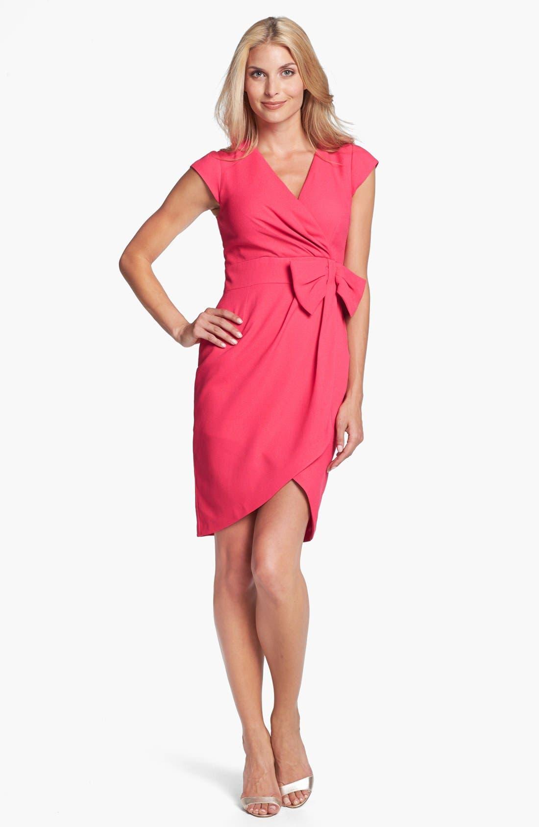 Alternate Image 1 Selected - ERIN erin fetherston 'Clara' Crepe Faux Wrap Dress
