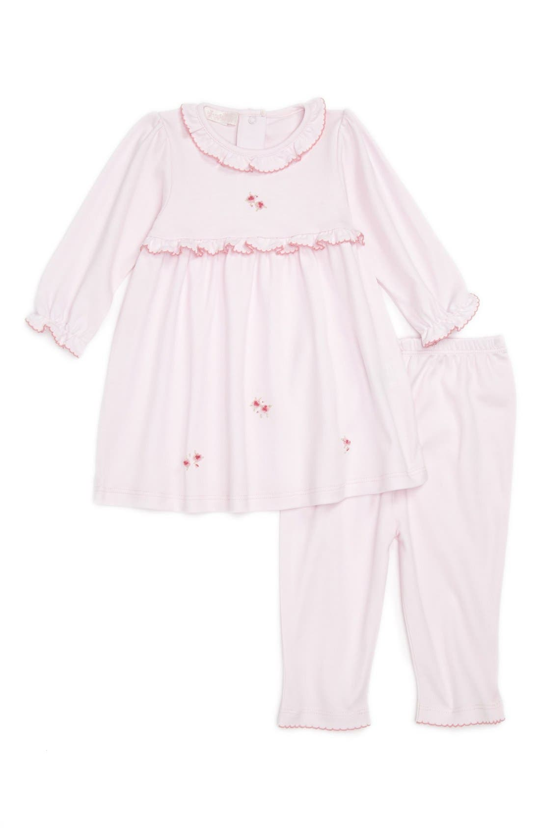 Main Image - Kissy Kissy 'Rose Petal' Dress & Leggings (Baby Girls)