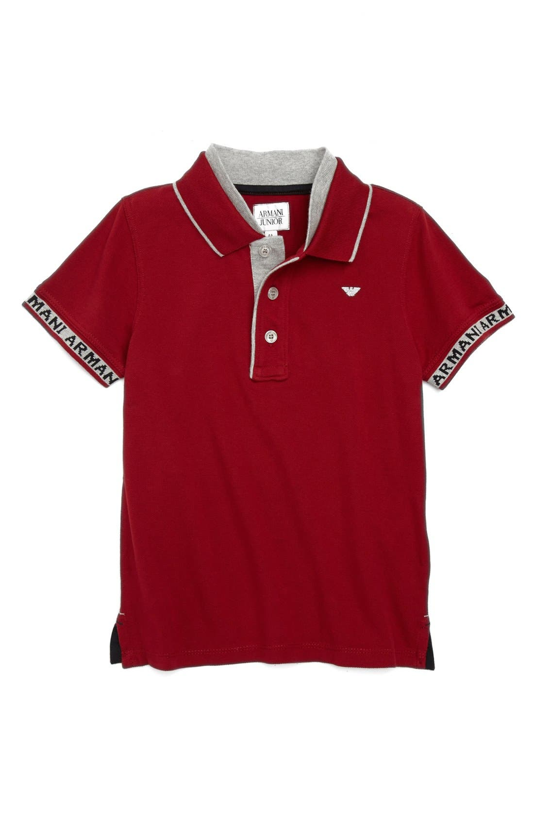 Alternate Image 1 Selected - Armani Junior Polo (Toddler Boys)