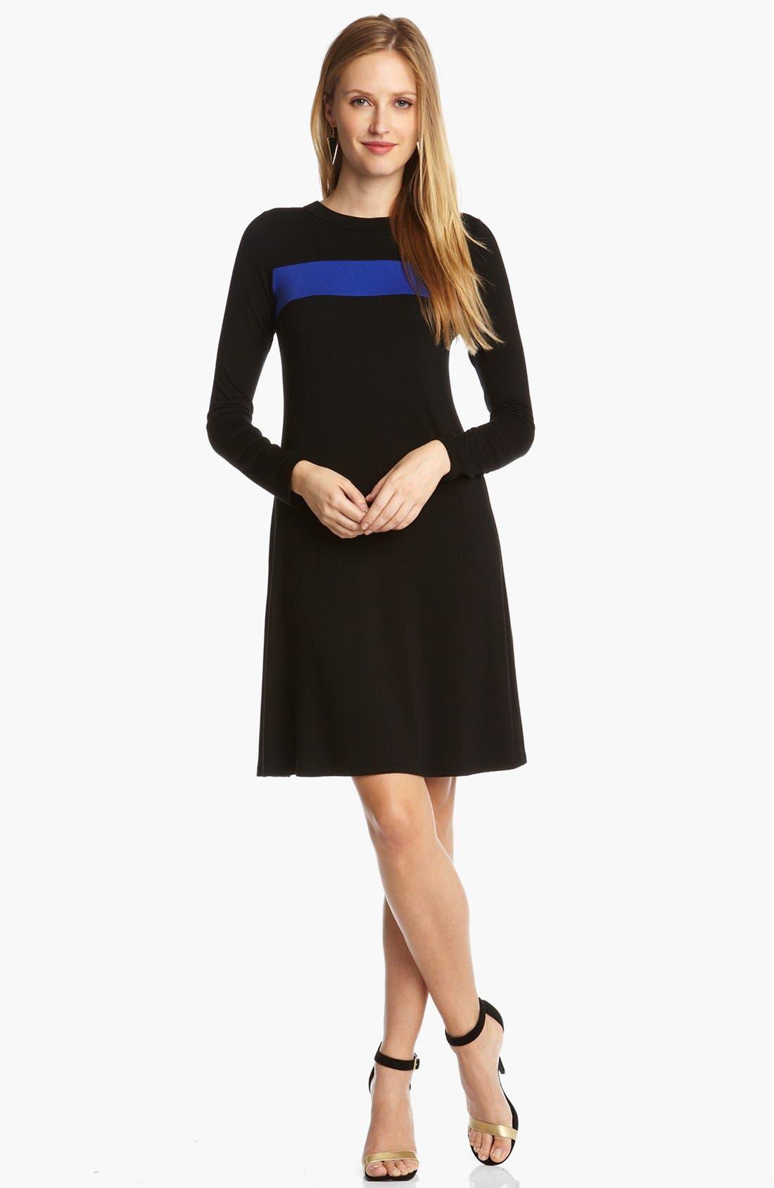 Alternate Image 1 Selected - Karen Kane Stripe A-Line Dress