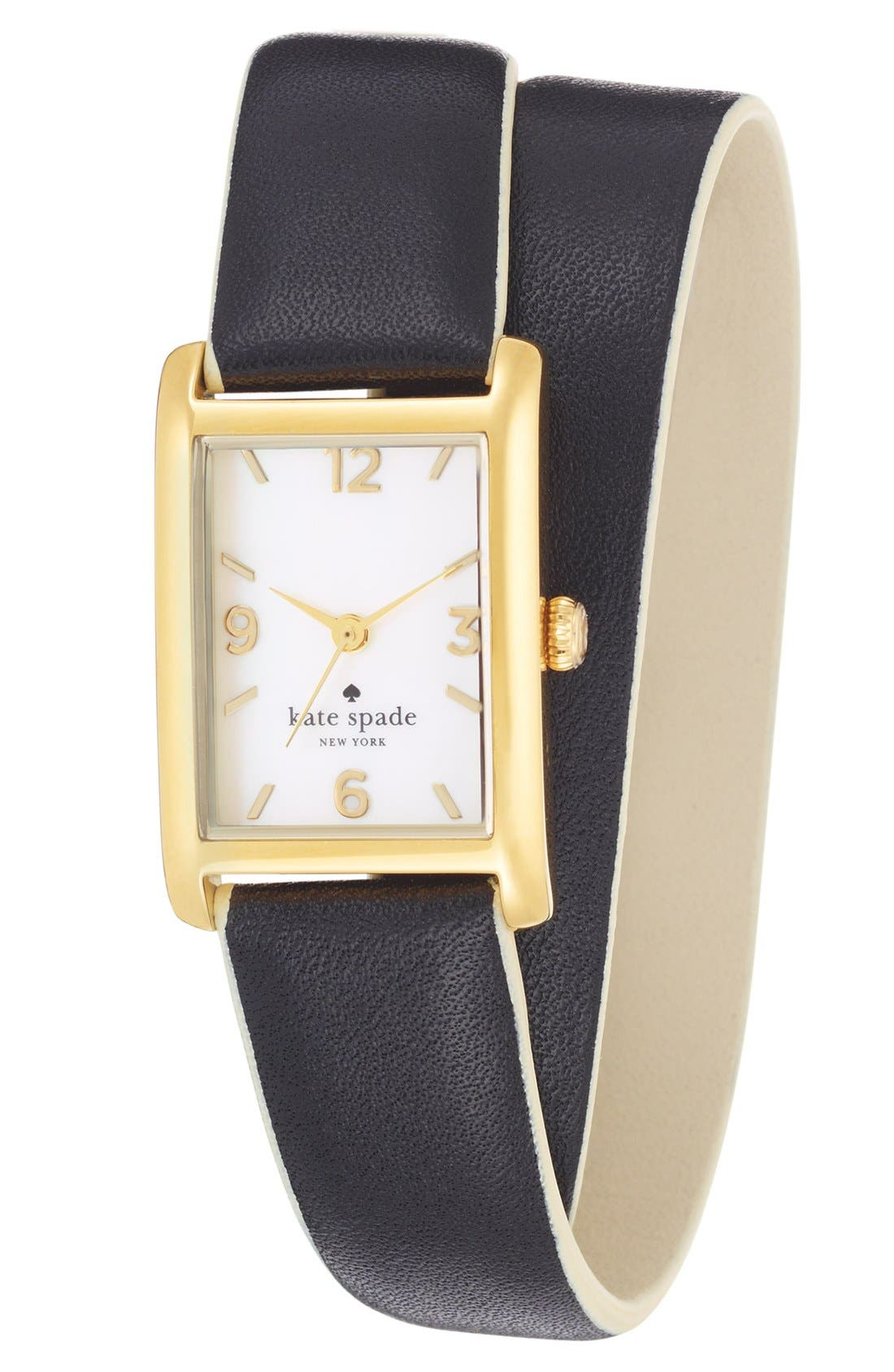 Main Image - kate spade new york 'cooper' double wrap watch, 20mm x 25mm