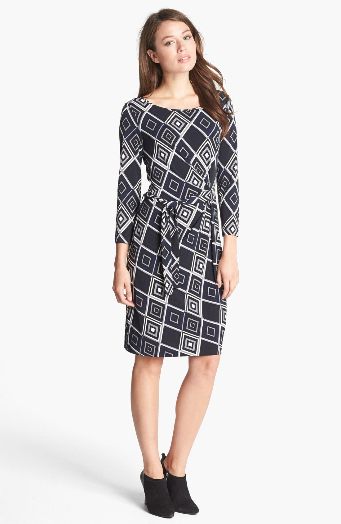 Main Image - Anne Klein Print Faux Wrap Dress