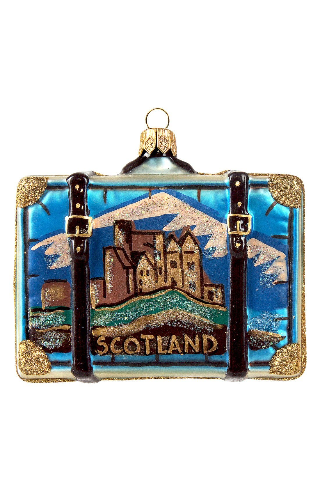 Main Image - Nordstrom at Home 'Scotland' Suitcase Ornament