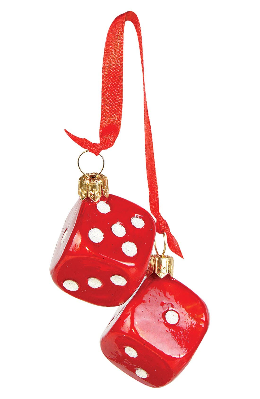 Alternate Image 1 Selected - Nordstrom at Home Pair of Dice Ornament