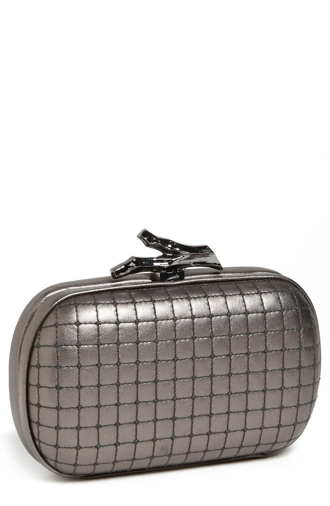 Alternate Image 1 Selected - Diane von Furstenberg 'Lytton - Small' Quilted Metallic Leather Clutch
