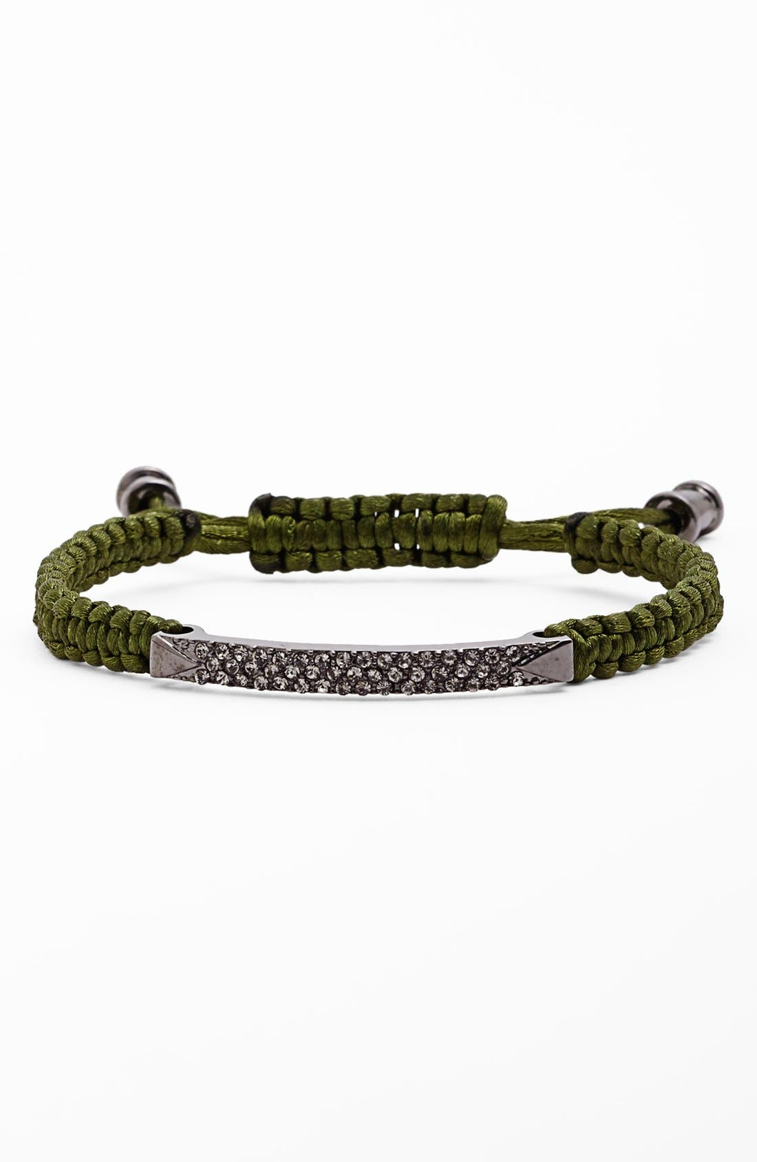 Alternate Image 1 Selected - Vince Camuto 'Tour of Duty' Macramé ID Bracelet