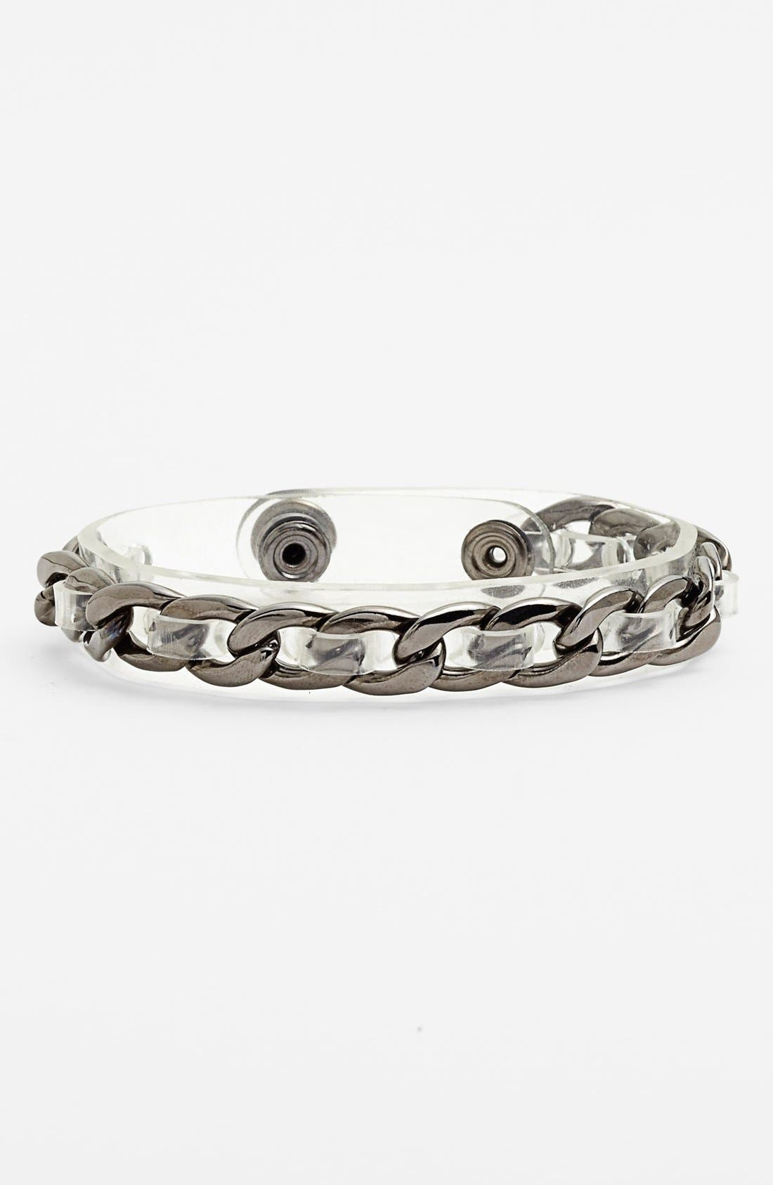 Main Image - Cara Couture Thin Chain Clear Bracelet