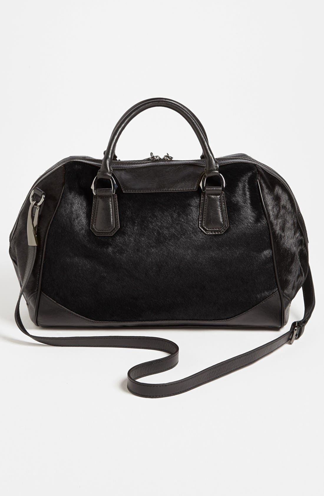Alternate Image 3  - POVERTY FLATS by rian 'Large' Faux Calf Hair Satchel