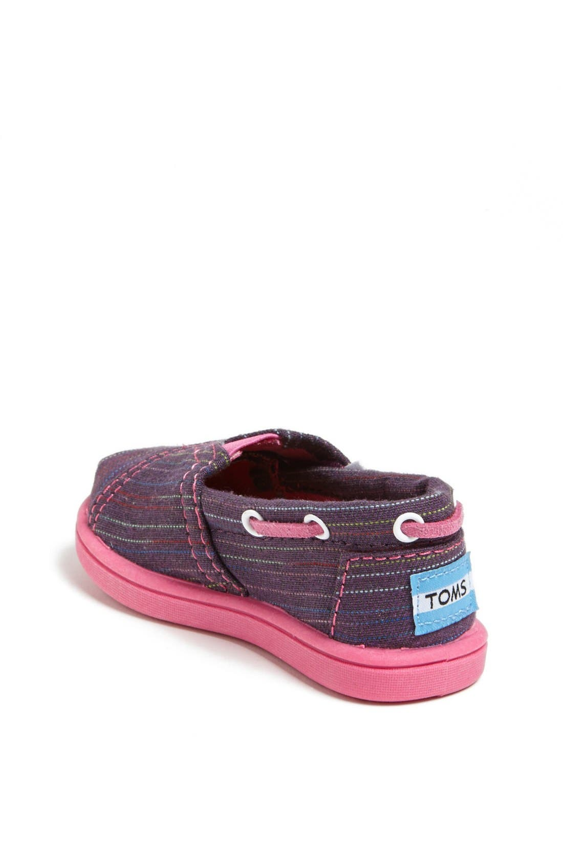 Alternate Image 2  - TOMS 'Classic Tiny - Stripe Bimini' Slip-On (Baby, Walker & Toddler)