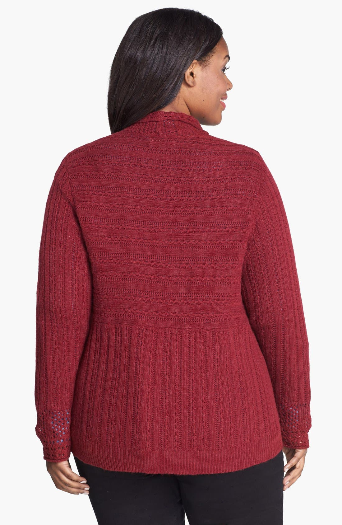 Alternate Image 2  - Lucky Brand 'Venice' Drape Front Sweater (Plus Size)