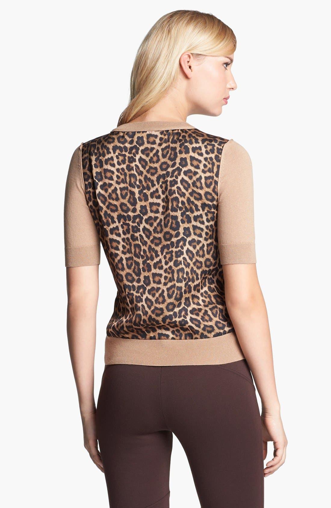 Alternate Image 4  - MICHAEL Michael Kors Woven Back Sweater (Regular & Petite)