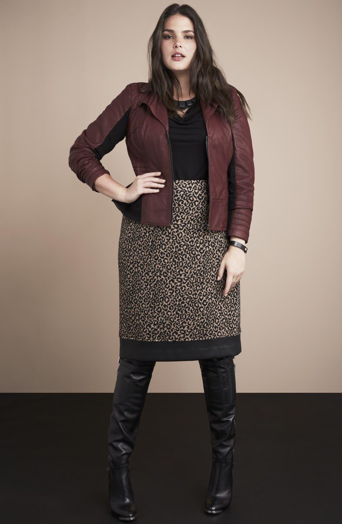Alternate Image 5  - Sejour Sleeveless Jersey Top (Plus Size)