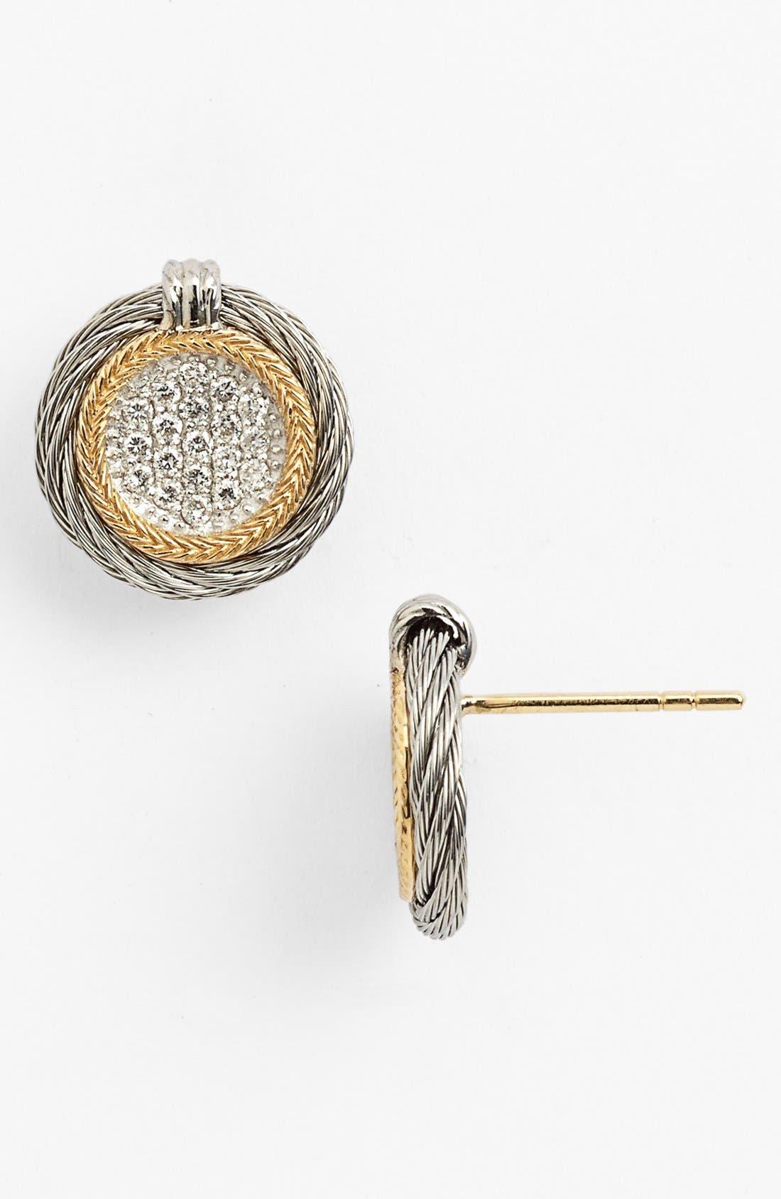 Alternate Image 1 Selected - ALOR® Diamond Button Stud Earrings