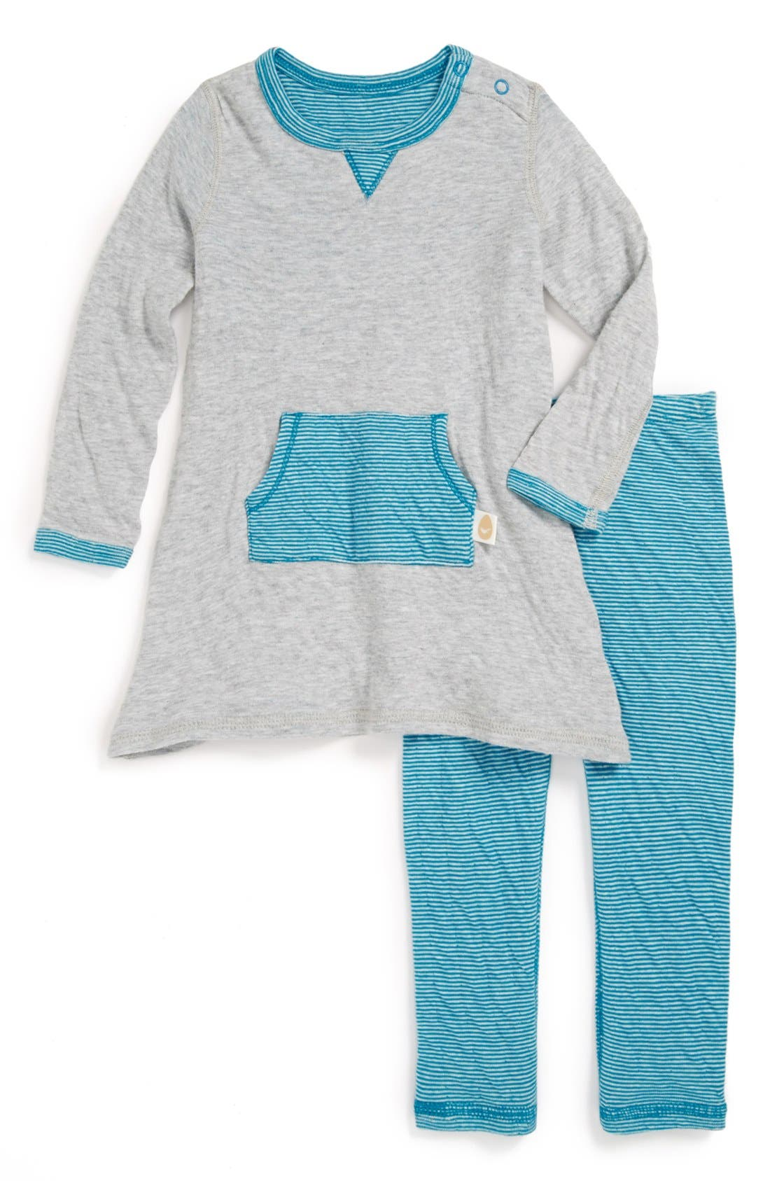 Alternate Image 1 Selected - Stem Baby Reversible Dress & Leggings (Baby Girls)