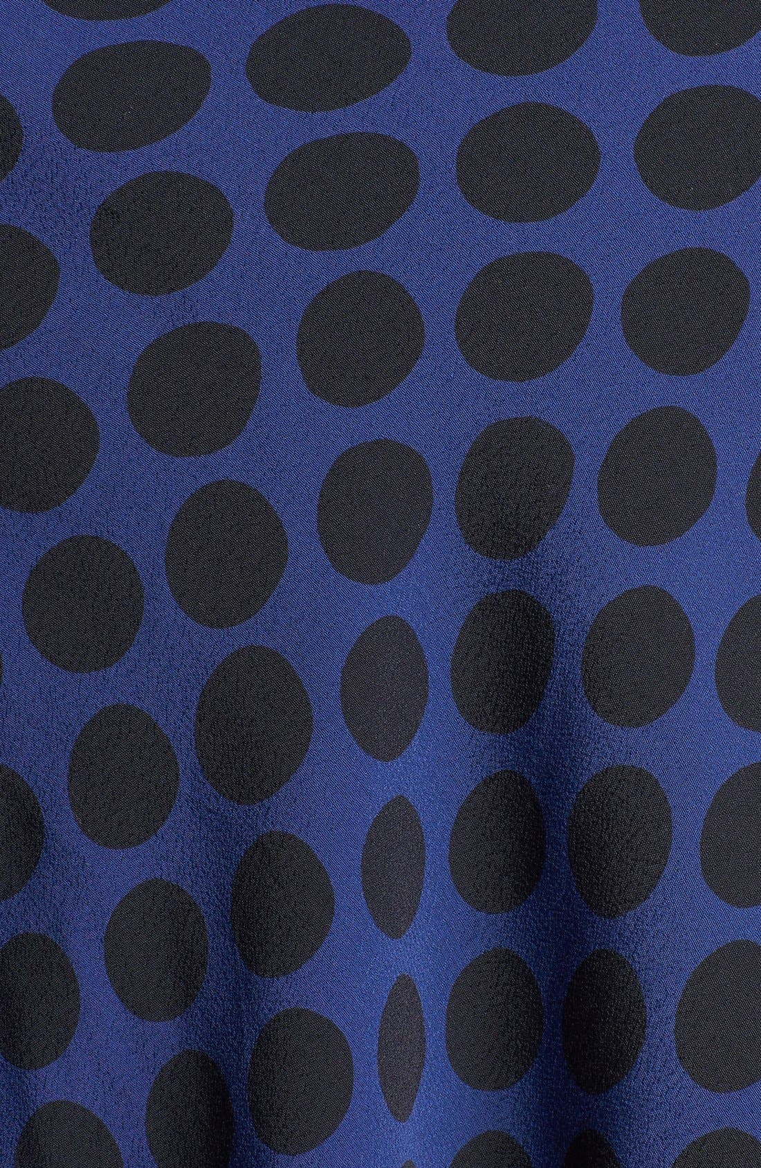 Alternate Image 3  - Ella Moss Dot Print Cowl Neck Tank