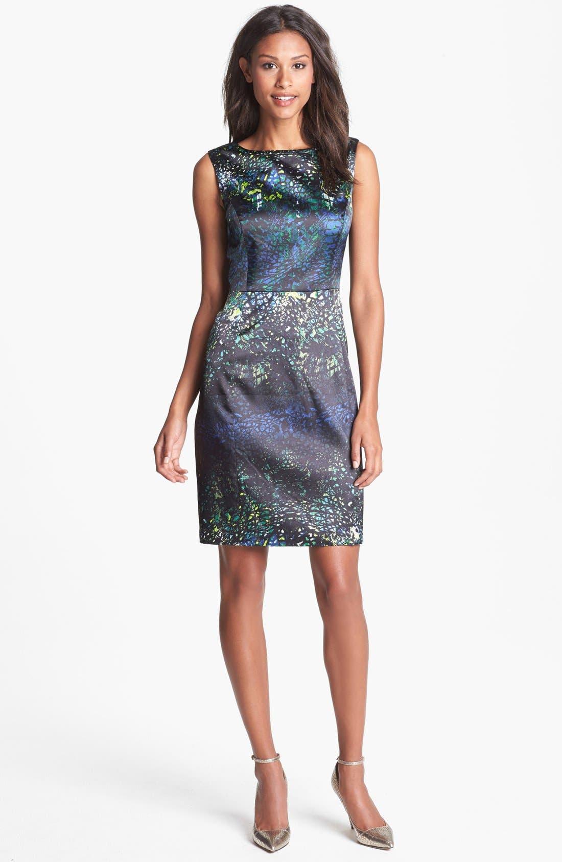 Alternate Image 1 Selected - T Tahari 'Sienna' Print Sheath Dress