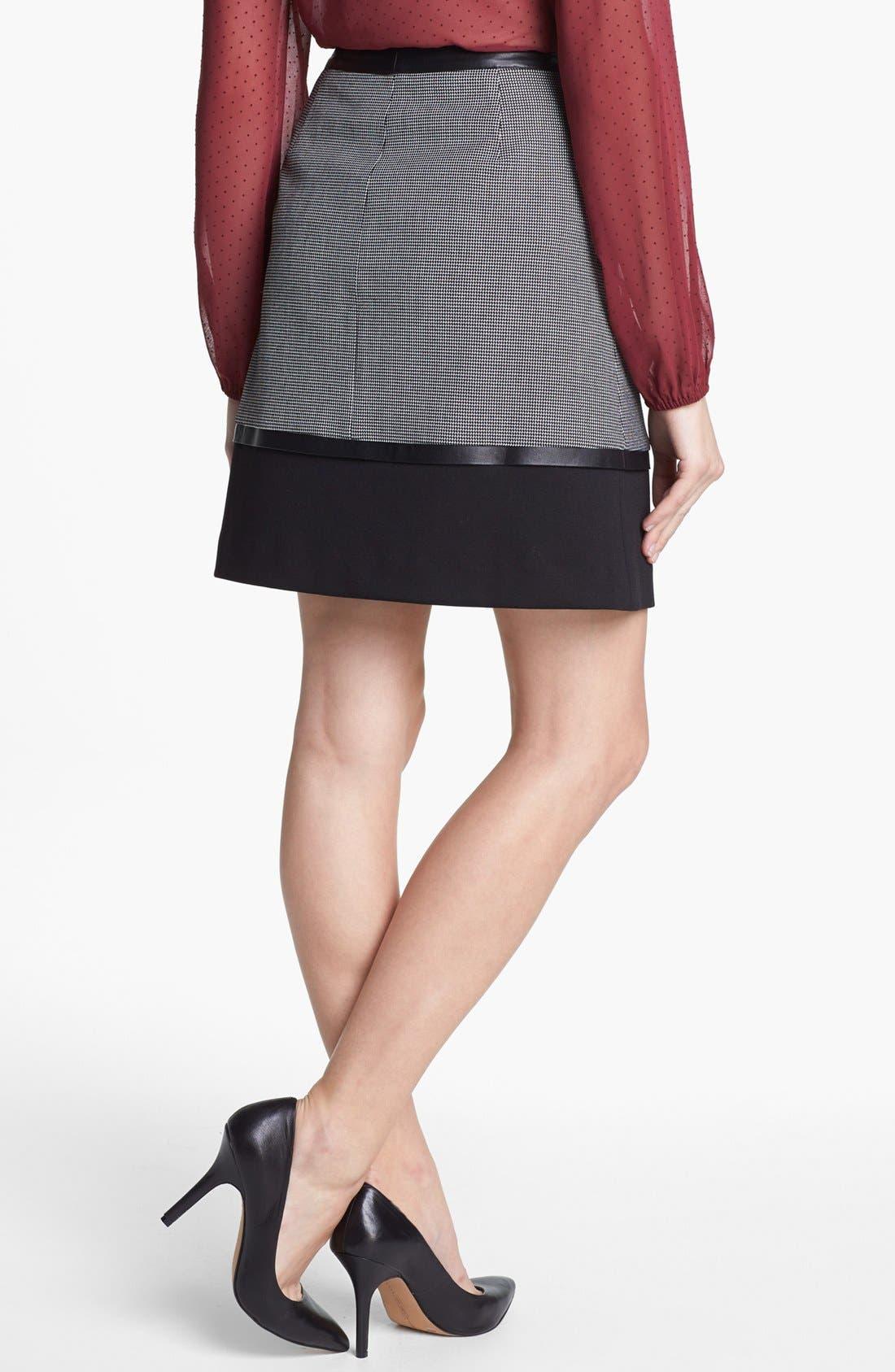Alternate Image 2  - Halogen® 'Power Grid' Zip Front A-Line Skirt