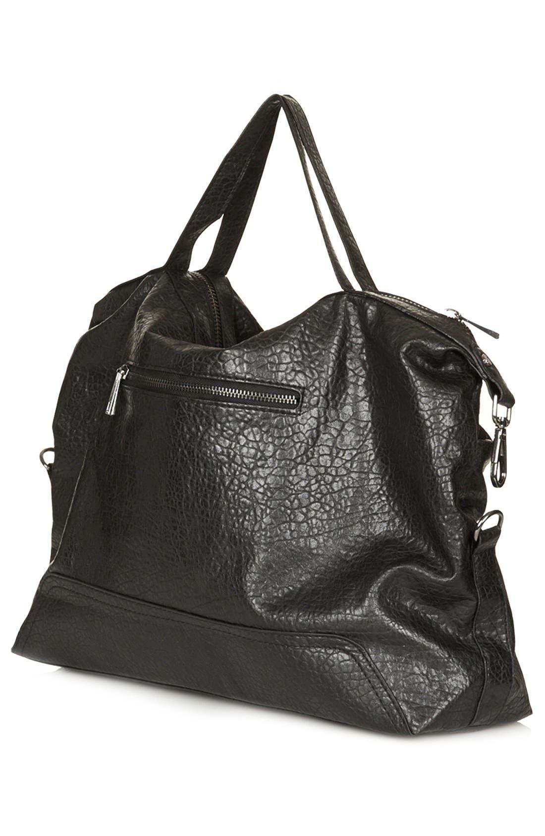 Alternate Image 4  - Topshop Faux Leather Satchel