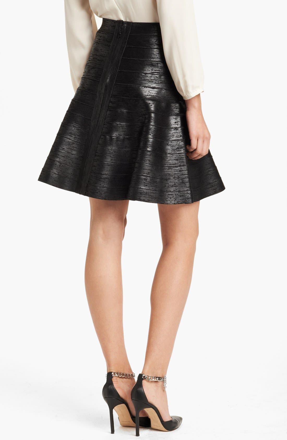 Alternate Image 2  - Herve Leger Foiled Skirt