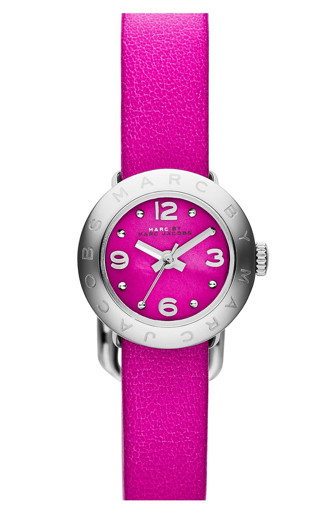 Alternate Image 1 Selected - MARC BY MARC JACOBS 'Amy Dinky' Leather Strap Watch, 20mm
