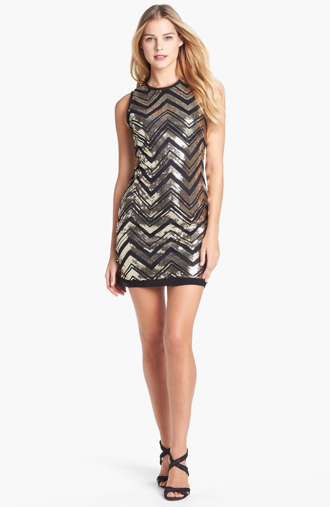 Alternate Image 1 Selected - Vince Camuto Sequin Shift Dress
