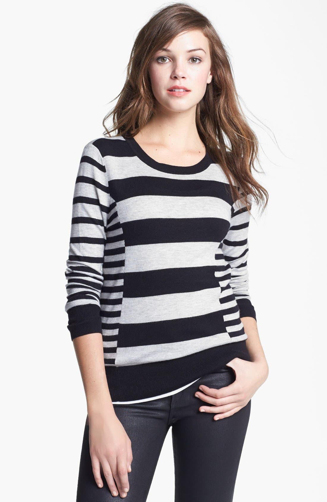 Alternate Image 1 Selected - Halogen® Pattern Sweater (Regular & Petite)
