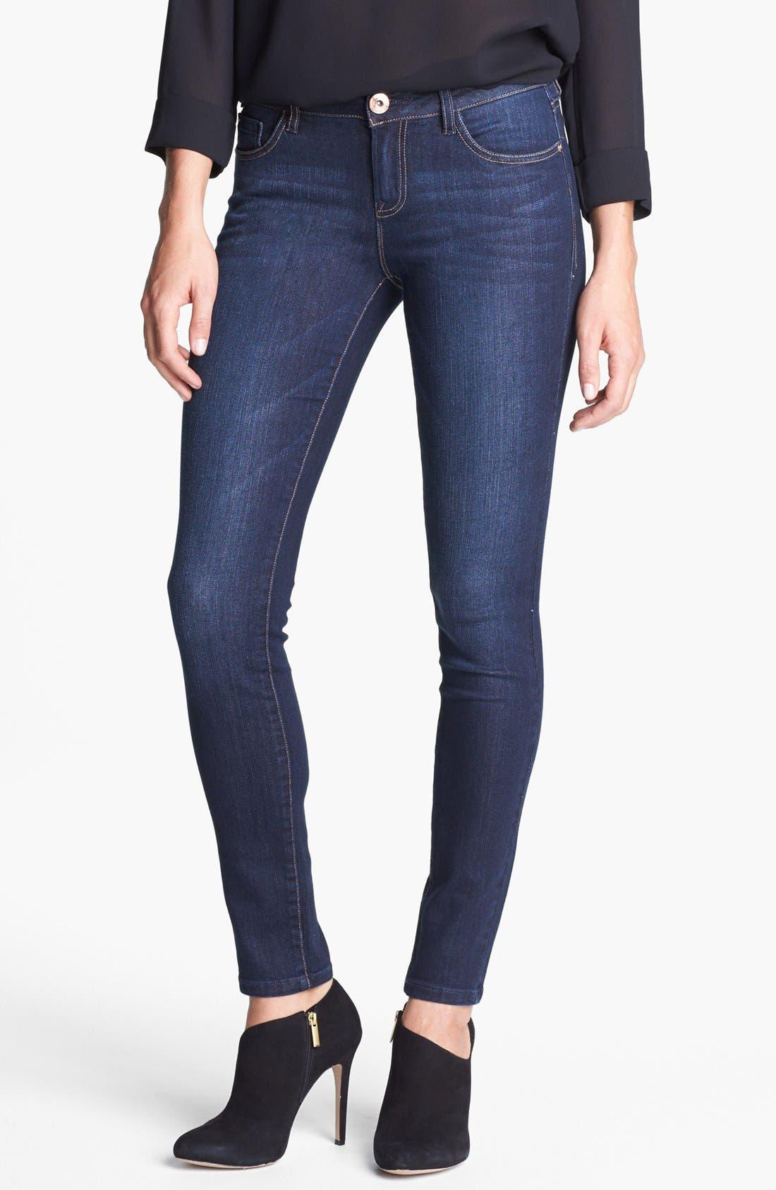 Alternate Image 1 Selected - kensie Skinny Jeans (Starry Eyed)