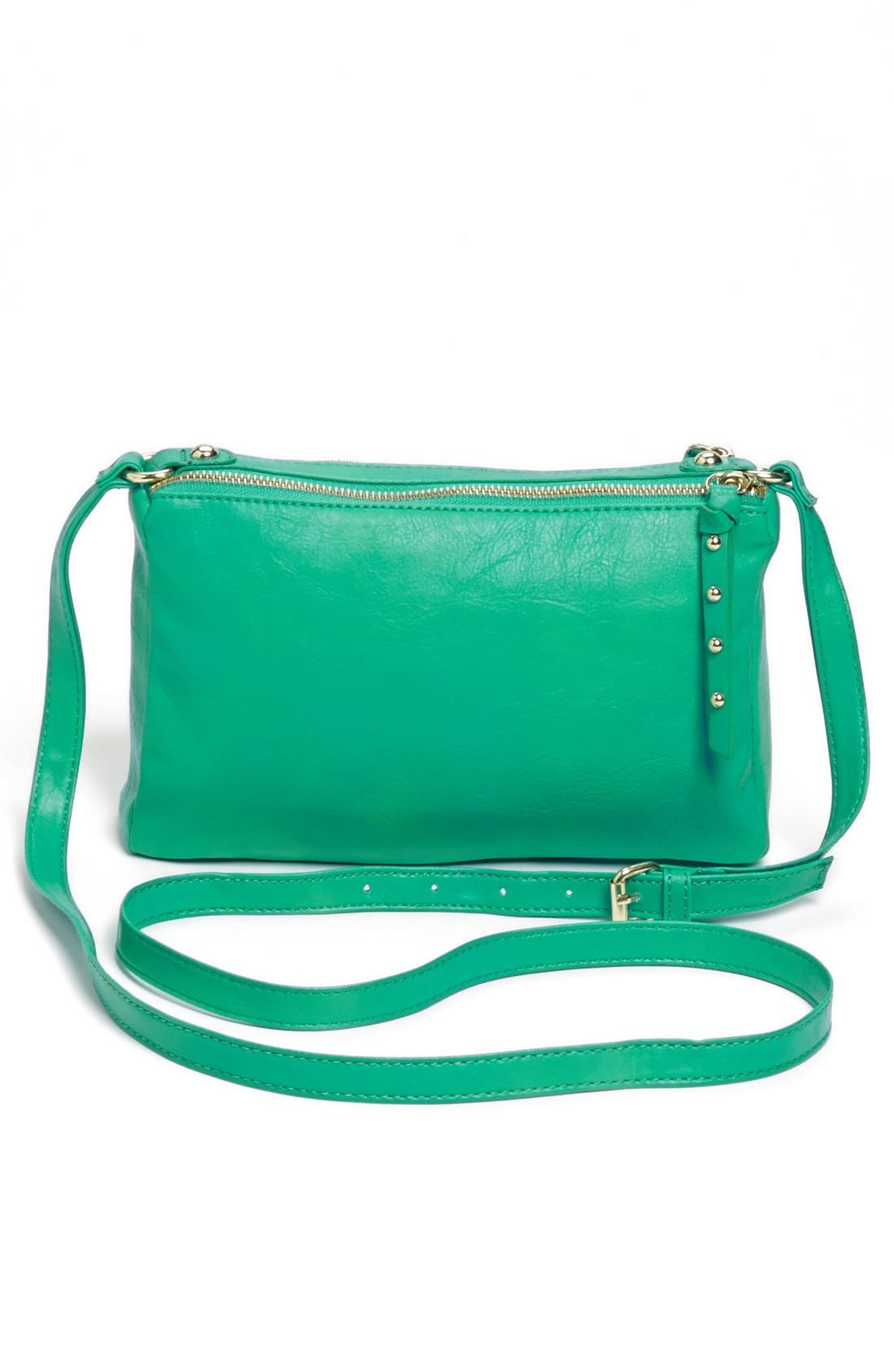 Alternate Image 4  - Collection B Faux Leather Crossbody Bag (Juniors)